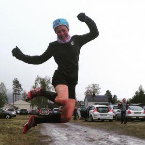 SÅ glad blir en sølvvinner under NM i bakkeløp!