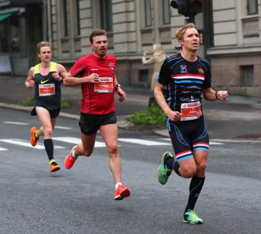 Kristian Ulriksen og Allan Hovda, Sentrumsløpet FOTO: Bjørn Hytjanstorp