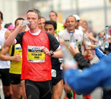Maratonmat: Fast eller flytende føde?