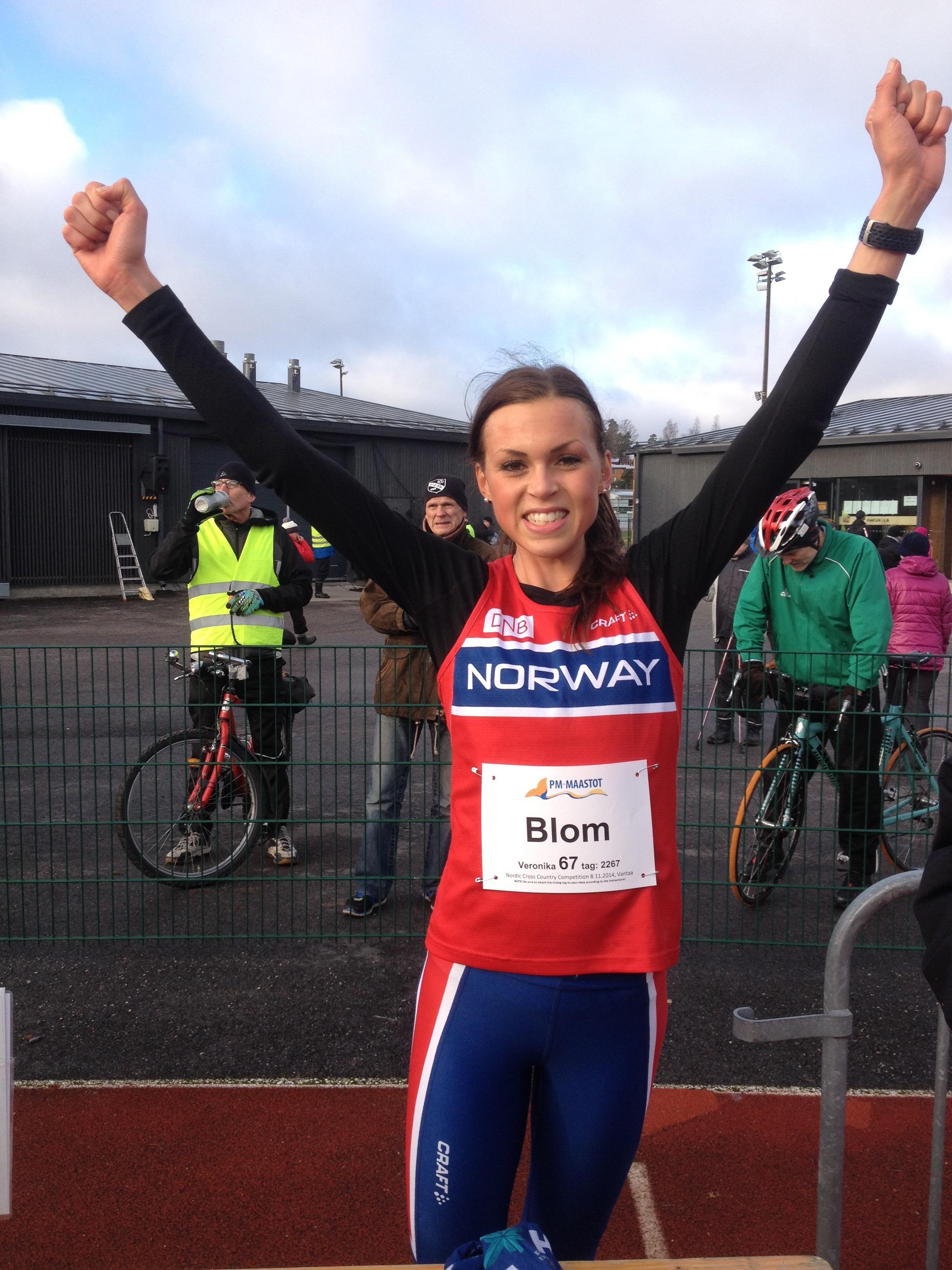 LØPEDRONNING: Veronica Blom er Norges beste halvmaratonløper, og skal straks løpe friidrett-EM i Amsterdam.
