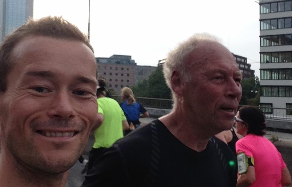 Etter årevis med trening, kunne endelig Even og pappa Bjørn løpe sammen under Oslo Maraton i fjor.