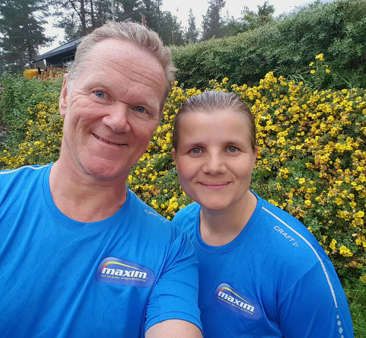 SPREKT PAR: I høst løp Nils-Einar og Trine Oslo Maraton for Team Maxim.