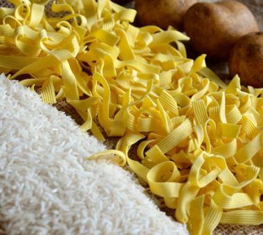 Langsomme karbohydrater som poteter, ris og pasta