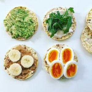 Maiskaker med diverse pålegg