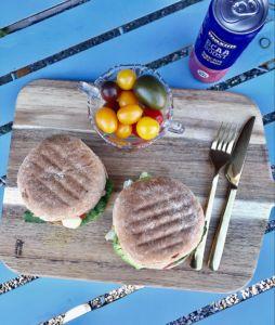 Hjemmelaget vegetarburgere